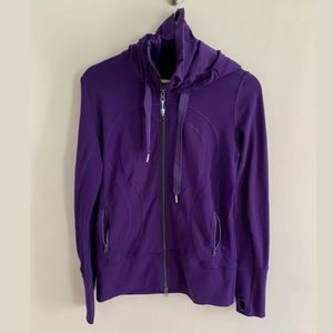 Lululemon Women's Full Zip Hooded Purple Jacket 8